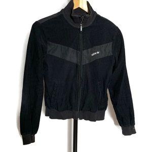 Adidas Black Vintage Corduroy Full Zip Jacket